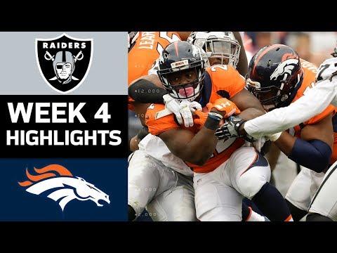 Raiders vs. Broncos | NFL Week 4 Game Highlights