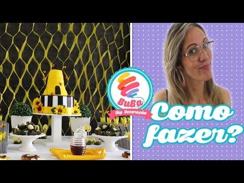DIY Painel para Festa Infantil Decoração de Festa tema abelhinha