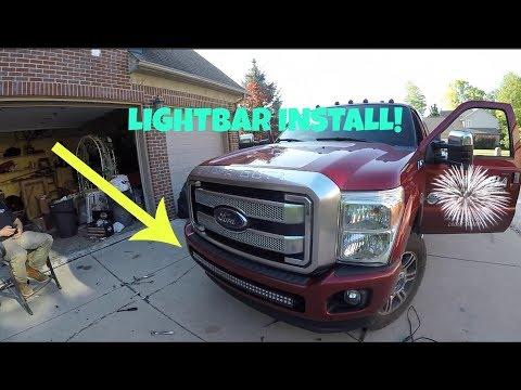 LightBar Install! 2015 F-350