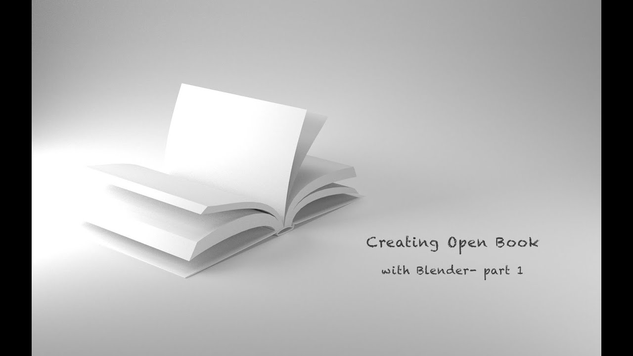 Creating Open Book With Blender- Part 1