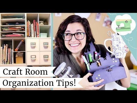 Craft Room Organizing Tips and Ideas! Managing Your Crafty Mess with Storage Hacks