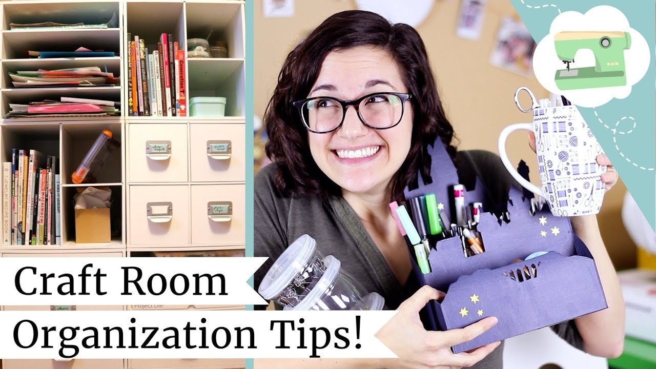 Craft Room Organizing Tips And Ideas Managing Your Crafty Mess With Storage Hacks Youtube