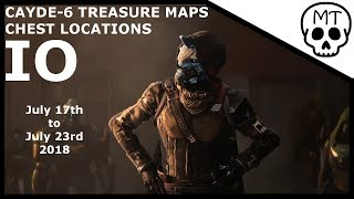 Cayde-6 Treasure Maps / Chest Locations / Io July 17th 2018 / Destiny2