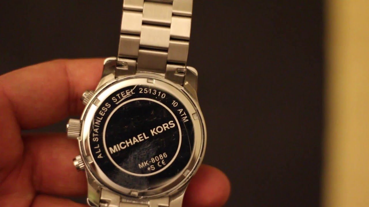 ec2bbf3efa7e How to change Michael Kors MK 8086 Watch Battery - YouTube