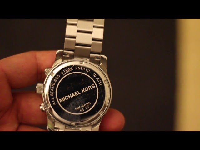 2b2c7c6f8f26 (VIDEO Review) Michael Kors Women s MK3157 Silver Stainless-Steel Quartz  Watch
