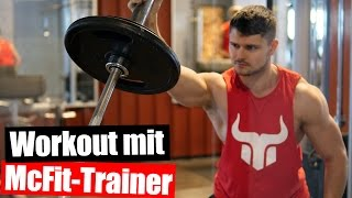 Video Workout mit McFit Trainer 😣 Fitness Vlog download MP3, 3GP, MP4, WEBM, AVI, FLV Juli 2018