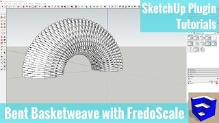 Video Creating a Bent Basketweave Shape in SketchUp with FredoScale's Radial Bend Tool download MP3, 3GP, MP4, WEBM, AVI, FLV Desember 2017