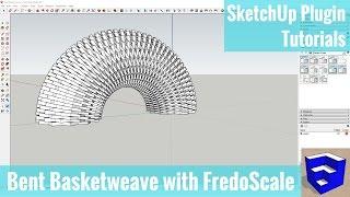 FredoScale Radyal Bend Aracı ile Taslak eğri Basketweave bir Şekil oluşturma