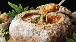 【パンの器で】エビトマトぐつぐつパンシチュー #ホームベーカリー