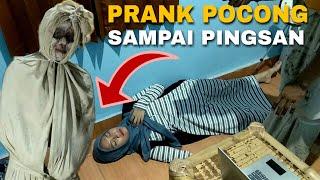 PRANK POCONG KE CEWEK CANTIK SAMPAI PINGSAN