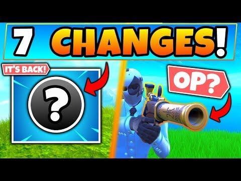Fortnite Update: IT'S FINALLY BACK + Flint Knock Pistol! - 7 Patch Notes Changes In Battle Royale!