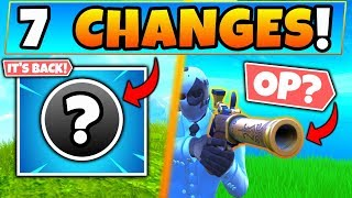 Fortnite Update: IT'S FINALLY BACK + Flint Knock Pistol! - 7 Patch Notes Changes in Battle Royale!