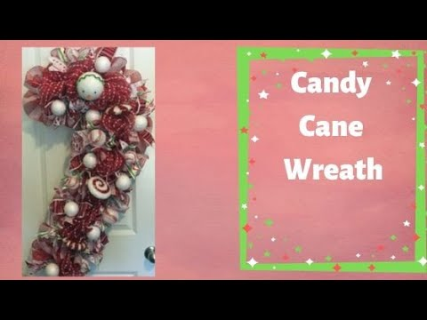 How to make a Deco Mesh Candy Cane for Christmas Poof and Ruffle Technique