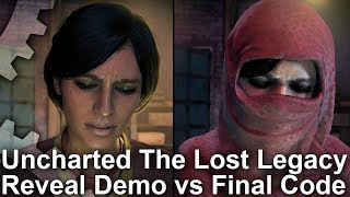 [4K] Uncharted: The Lost Legacy - Reveal Trailer vs Final Game Comparison