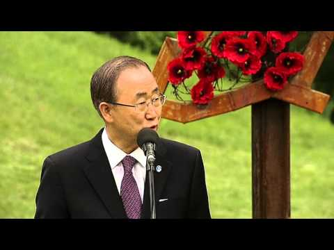 Ban Ki-moon in Ukraine at the 70th Anniversary of the end of WWII