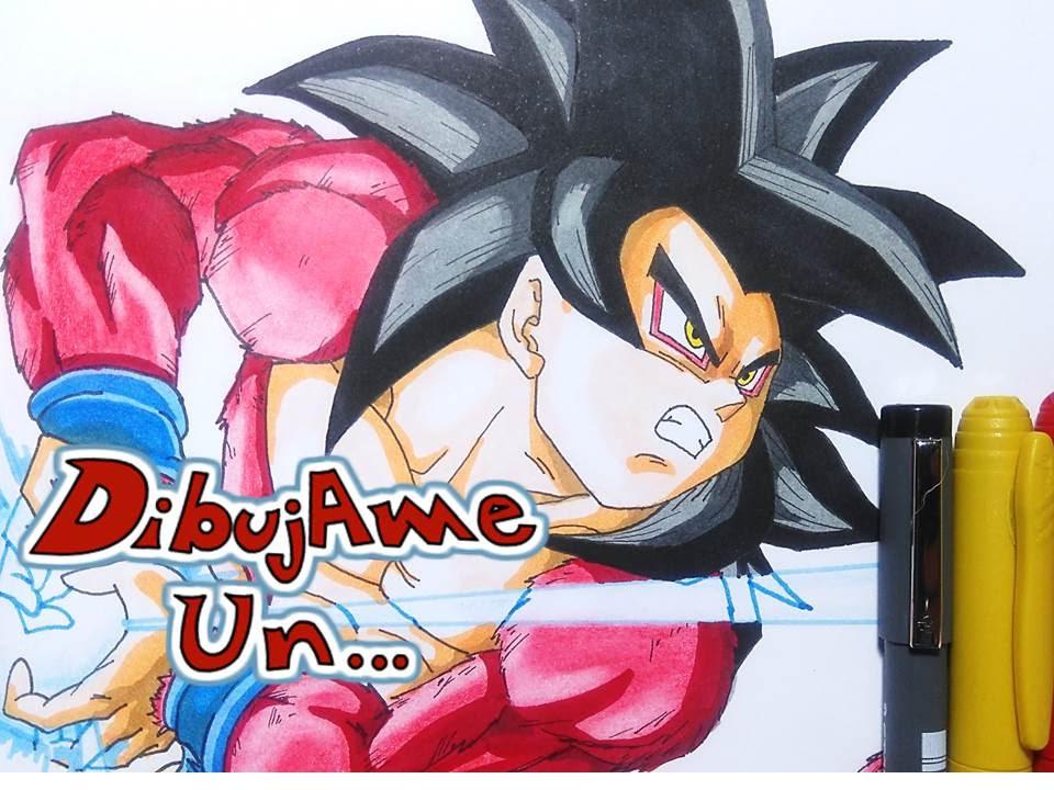 Como dibujar a GOKU SSj4 kame hame ha How to Draw GOKU SSj4 Kame