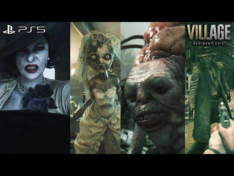 Resident Evil 8 (Village) - All Bosses Transformations