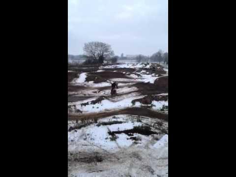 Mooreys crash on pitbike