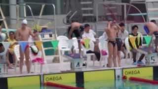 張振興 2013-2014年 學界 D2 校際游泳比賽 男子乙組 4 X 50米自由泳接力決賽【張振興伉儷書院】《第4線》(第1名)