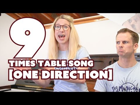 9 Times Table Song • One Direction   What makes you beautiful