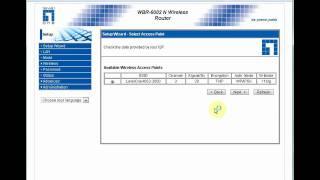 WBR-3418 / 6002 a se conectar em outro ponto de acesso sem fio com a função WISP (AP client).