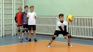 The volleyball training. Children. Full version