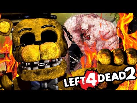 BURNING GOLDEN FREDDY TO DEATH || Left 4 Dead 2 FNAF 2 MOD w/Dawko (Five Nights at Freddys)