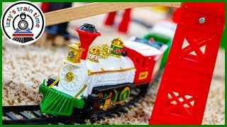 SANTA'S MUSICAL EXPRESS TRAIN! Huge Holiday Track with Bachmann, Thomas, and more!