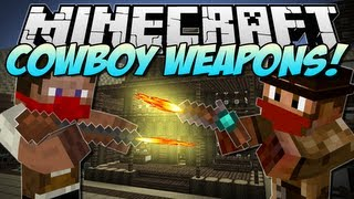 Minecraft | COWBOY WEAPONS! (Flintlock Weapons Mod!) | Mod Showcase [1.5.2]