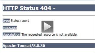 HTTP Status 404 error