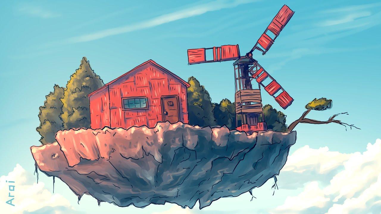 Взорвал Дом на Летающем Острове в Rust/Раст