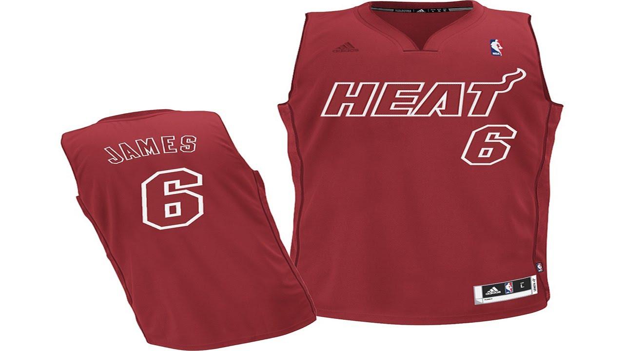 Miami heat christmas edition jersey heat christmas day jersey heat - Nba 2k13 Lebron James First Practice In The Miami Heat Christmas Jersey Youtube