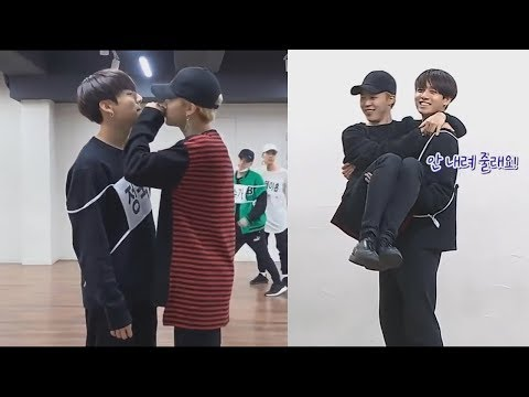 JIMIN and JUNGKOOK (歆�氙� & 鞝曣淡 BTS) Cute Moments