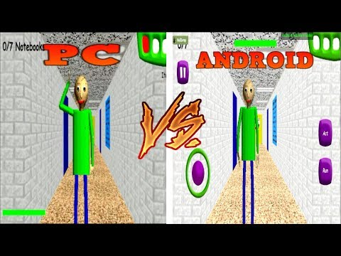 ANDROID vs PC - Baldi's Basics in Education & Learning