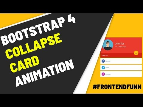 Bootstrap 4 Cards Collapsible Animation Tutorial - web development thumbnail