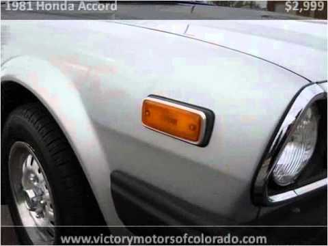 1981 honda accord used cars longmont co youtube for Victory motors trucks longmont
