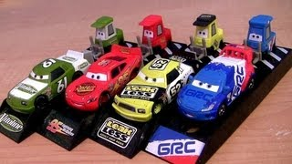 Cars 2 Pit Crew Launchers Raoul Caroule Pitty Lightning McQueen, Leak Less Disney Pixar 2013 Racers