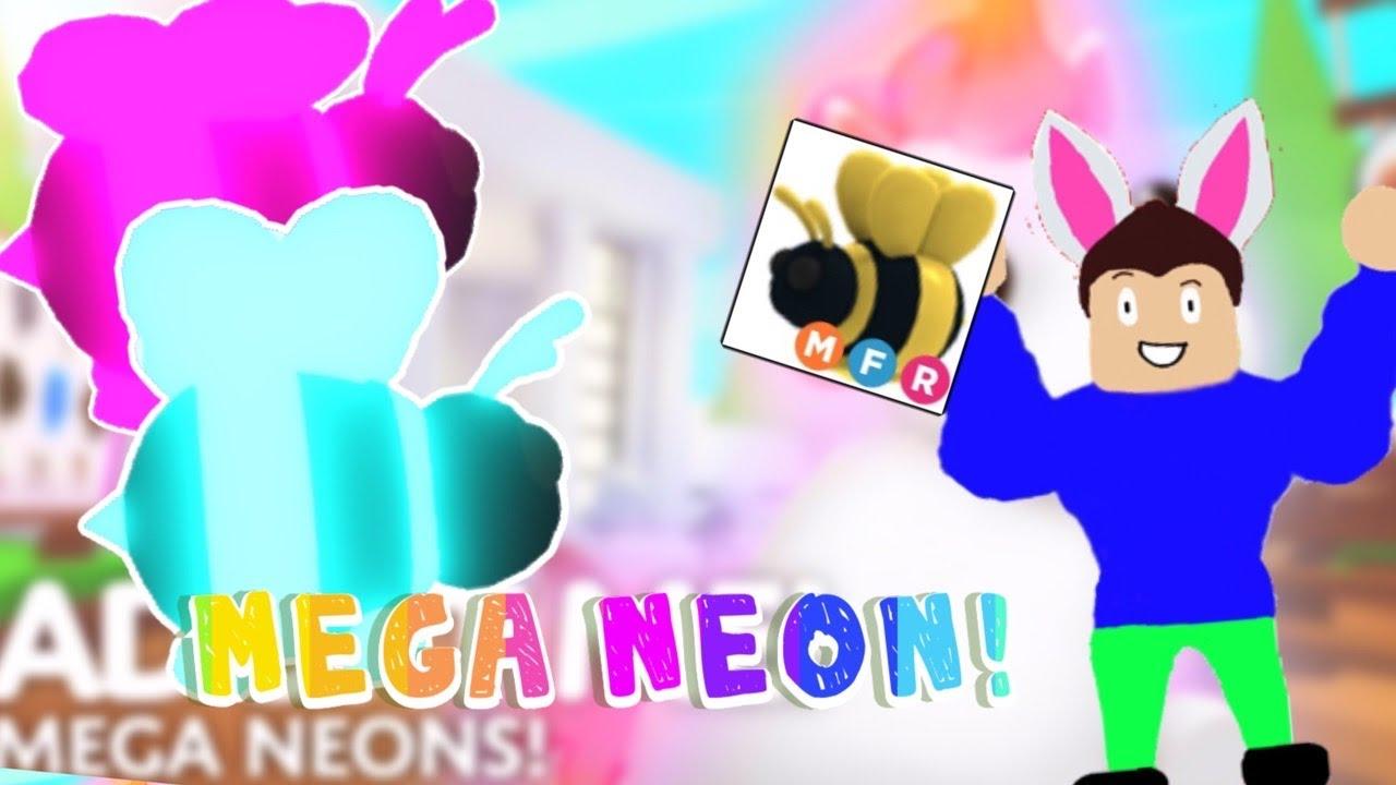 Making A Mega Neon King Bee Roblox Adopt Me Youtube