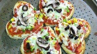 Bread Pizza Recipe By Dhruv - Heart Shaped Food Recipe - Perfect Valentine Recipe