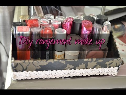 diy rangement make up tr s facile youtube. Black Bedroom Furniture Sets. Home Design Ideas
