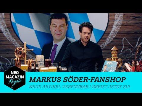 Der Markus Söder-Fanshop by NEO MAGAZIN ROYALE mit Jan Böhmermann - ZDFneo