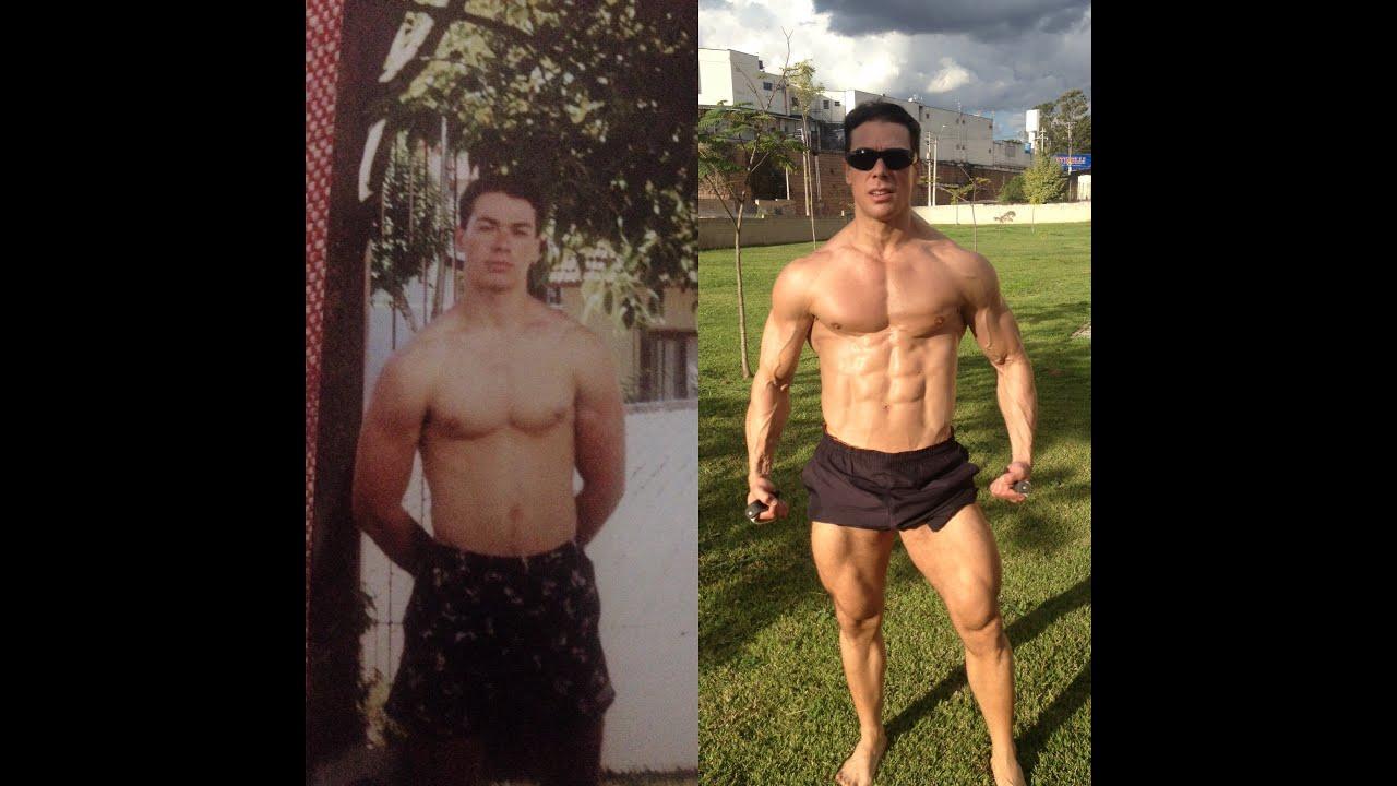 Antes e Depois - Musculação - Atleta Natural - Before and After