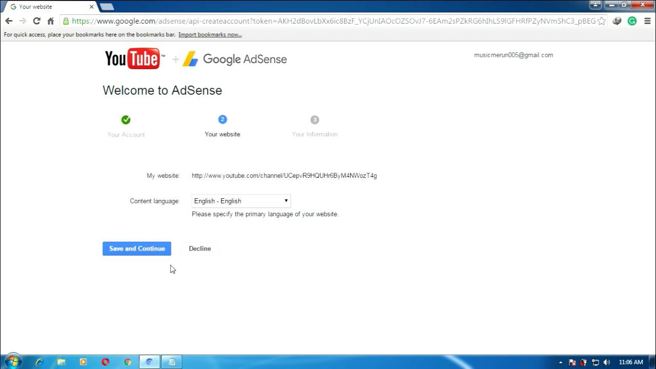 How To Create Adsense Account For Earn Money In Youtube