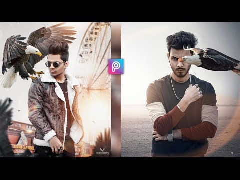 PicsArt Eagle Photo Editing Tutorial In Picsart Step By Step In Hindi - Eagle Concept Photo Editing