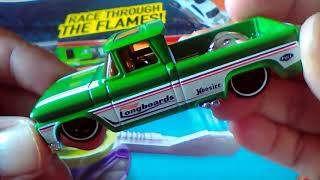 Custom 62 Chevy Pickup truck Hot Wheels diecast model