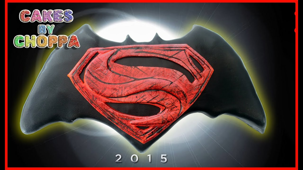 Batman Vs Superman Logo Cake (How To) Feat: ThatsSoNathan - YouTube