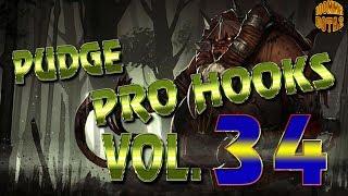 Dota 2 Pudge Pro Hooks 2017 - Weekly hooks Vol.  34