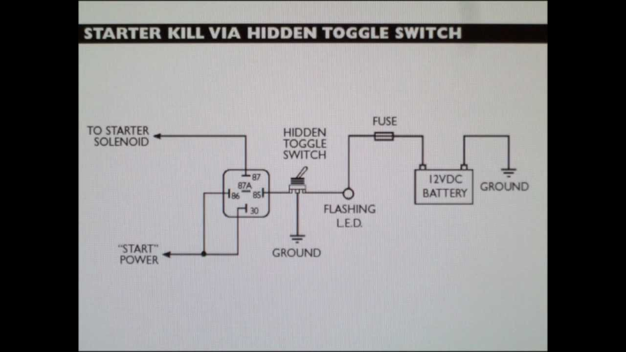 how to make an inexpensive starter disable car alarm with a switch alarm relay diagram [ 1280 x 720 Pixel ]
