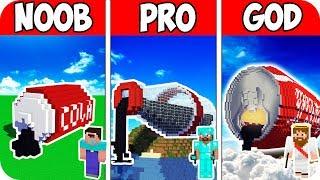 Minecraft NOOB vs PRO vs GOD : MODERN BLOCK COCA COLA BOTTLE