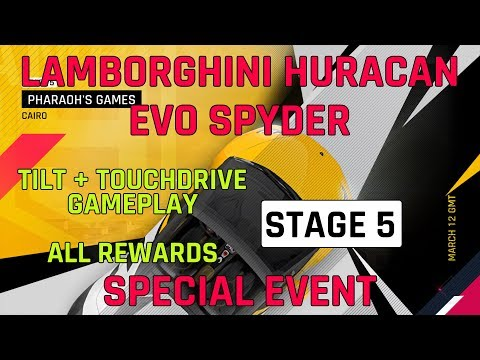 Asphalt 9 Stage 5 Lamborghini Huracan Evo Spyder Special Event